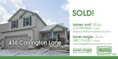 Sold! Congratulations and best wishes to the sellers and new owners of this Broadview Heights home!