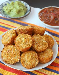 Mexican Pepper Jack Baked Cauli-Tots. Making these tomorrow!