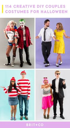 Dress to impress with these awesome DIY couples costume ideas.