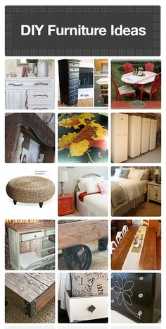 20 useful DIY furniture ideas.  2nd row. 1st pic. Find a shelf at DI and use it for the swoopy decorative part in front.