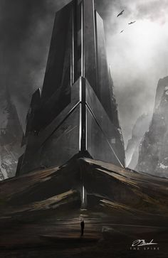 The Spire by Thom Martinson | Sci-Fi | 2D | CGSociety || Worldbuilding & Landscapes