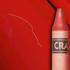 Got a scratch on your car? Cover it with a matching crayon and buff off the wax residue with a soft cloth.