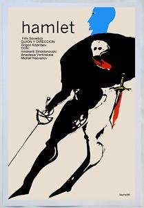 Cuban movie Poster 4 film.HAMLET.Shakespeare Theater..Buy 5 and ships 4 FREE
