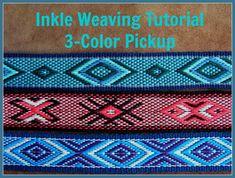 Inkle weven Tutorial 3-kleur Pickup Band weven door ASpinnerWeaver