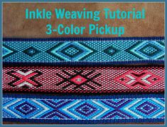 Learn a fantastic new way to create unusual and colorful pickup designs !! The 3-color pickup technique comes from an older style of pattern woven