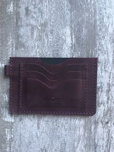 Leather document wallet | Purple document pouch | Minimalist card and document holder | Gift for dad by YLARAGIS on Etsy