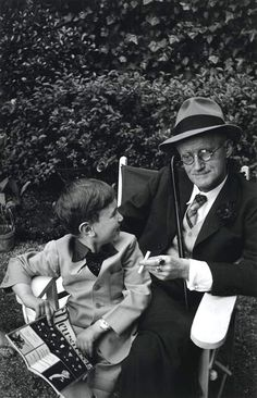 James Joyce and his grandson Stephen, Paris 1938 by Gisèle Freund