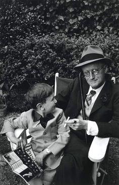 James Joyce and his grandson Stephen, Paris 1938 -by Gisèle Freund