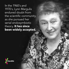 #Darwin theorized that competition drove evolution. Lynn Margulis showed that cooperation plays a role too. #TBT #womeninscience