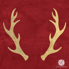 Christmas Reindeer Antlers - Craft Stencils for Holiday Decorations.. I LOVE this antler stencil!!!!!