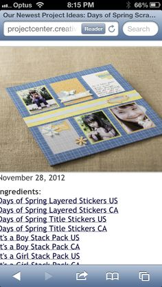 CM Scrapbook layout