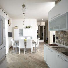 di design fatto su misura per una luminosa cucina con zona pranzo ...