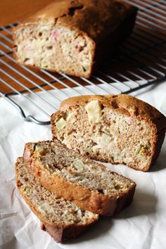 Rhubarb Apple Bread | girlversusdough.com @girlversusdough