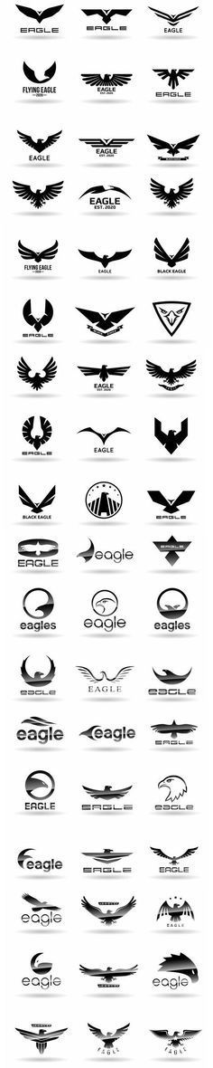 Many ways to design an eagle logo. A simple eagle logo. A fun eagle logo. Inspiration Logo Design, Icon Design, Design Art, Web Design, Logo Branding, Logo Typo, Logo Sketch, Logo Luxury, 1 Tattoo