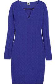 M MissoniEmbellished crochet-knit wool-blend dress