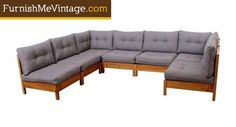 Restored mid century modern Founders sectional sofa