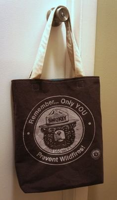 Smokey The Bear tote! $17.00 with Shipping!