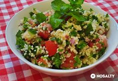 Tabbouleh Glaser konyhájából Guacamole, Grains, Food And Drink, Rice, Ethnic Recipes, Lebanese Cuisine, Meal, Food And Drinks, Kochen
