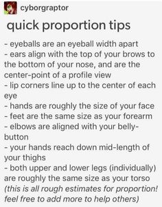 Proportion tips.