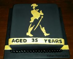 Johnnie Walker black label cake.