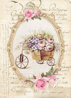 Ideas vintage flowers decoupage scrapbooking for 2020 Decoupage Vintage, Vintage Paper, Vintage Cards, Vintage Labels, Vintage Ephemera, Vintage Postcards, Vintage Pictures, Vintage Images, Paper Art
