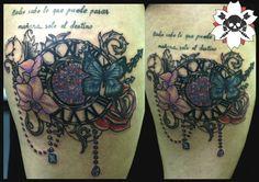 #flechatattoo #tattoo #tatau #clocktattoo #reloj #flores #color #ink #inked inkedgirls #inkbabes #instattoo #draw #perlas #pearl #tatuaje #independencia 331