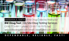 Business Card Design for BW Drug Test Services, designed by Daymond E. Lavine