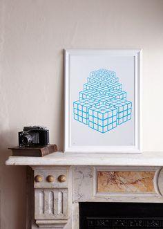Rubix Returns Screenprint/ Rubix Cube Screenprint by Soldshop