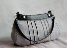 Gray Herringbone Pintuck Suite or Classic Fitted Purse Skirt - Cover for a Thirty-One Skirt Purse