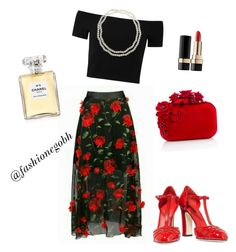 """""""a bit of floral"""" by lightbird on Polyvore featuring Alice + Olivia, Dolce&Gabbana, Jimmy Choo, Chico's and Chanel"""