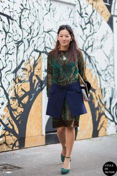 Tina Leung Street Style Street Fashion Streetsnaps by STYLEDUMONDE Street Style Fashion Photography