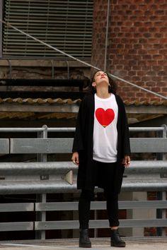 HEART + FLAG = RAINBOW HEART #Tshirts #LGBT #Gay #Lesbian #Shopping #OnlineShopping #TshirtDesign #GayMarriage #LesbianMarriage #Shirts #LesbianShop #GayShop #CustomTshirts #RainbowFlag
