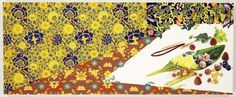 Kim Nam Greene    Lemon Sorbe  gouache and color pencil on paper mounted on panel, 20 x 50 inches, 2008