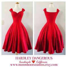 Hey, I found this really awesome Etsy listing at https://www.etsy.com/listing/213143398/cherry-red-rockabilly-dress-pin-up
