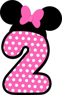 Números a lo Minnie en Rosa.