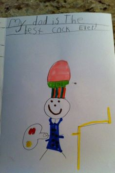 10 Unintentionally Inappropriate Drawings by Kids - My dad is the best...um...cook...ever.
