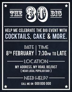 30th Birthday Party Invite by Akaihane