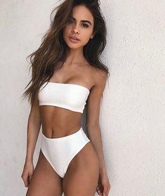 Alessandra High Waisted Bikini #highwaistedbikinis