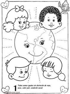 Resultado de imagen para afiche de los derechos humanos para colorear