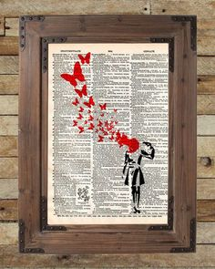 Banksy suicide girl Print of acclaimed street artist Banksy, thought provoking and powerful. These unique and original artwork are printed on authentic vintage