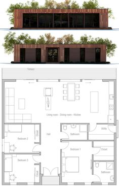 Plans, building a container home, modern house plans, small house plans, ho Small Modern House Plans, Modern Small House Design, New House Plans, House Floor Plans, Building A Container Home, Container Houses, House Layouts, Future House, Building A House