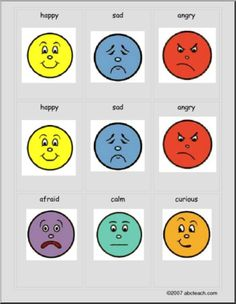 Feelings Faces Chart  Printables    Face Charts