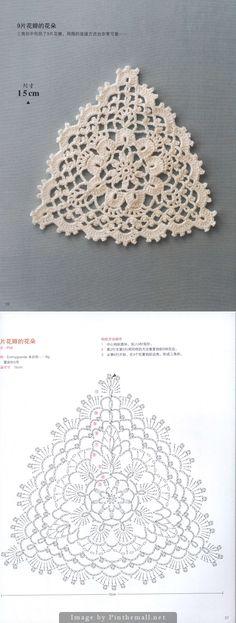 Triangular motif ~~ Japanese crochet book ~~ http://imgbox.com/g/Ui7cDR4GEV