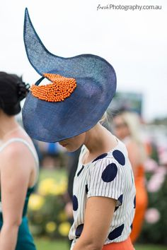 Spectacular hat spotted at the Melbourne Cup, Millinery Hats, Fascinator Hats, Sinamay Hats, Fascinators, Race Day Fashion, Races Fashion, Melbourne Cup Fashion, Race Day Hats, Race Day Outfits