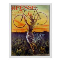 Bicycle Art | Bicycle Paintings & Framed Artwork by Bicycle Artists. Vintage French Bicycle Poster Advertisement.