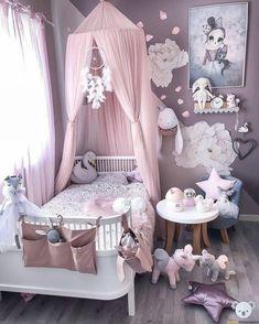 Little girls room - Girl's Clothes - Kinderzimmer Baby Bedroom, Baby Room Decor, Nursery Room, Room Decor Bedroom, Girl Nursery, Bedroom Ideas, Canopy Bedroom, Comfy Bedroom, Room Baby