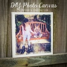 A Mother's Craftuition: DIY Photo Canvas, waterlogue app, watercolor,  photo canvas tutorial