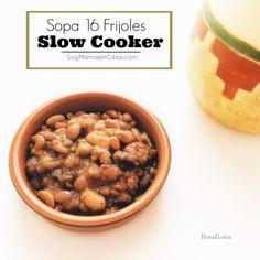 Prepara fácilmente esta rica #Sopa de Frijoles en tu #SlowCooker