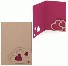 Silhouette Design Store - View Design #37606: card triple heart corner pocket