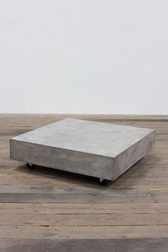 SQUARE CONCRETE COFFEE TABLE WITH CASTERS